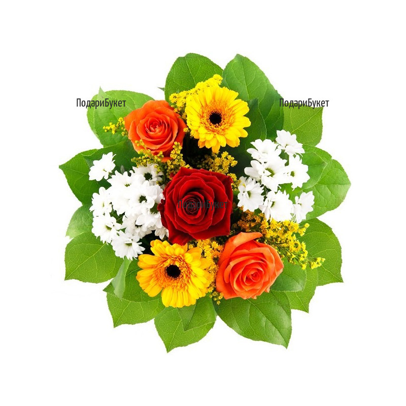 Flower delivery. Delivery of bouquets of various flowers