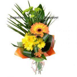 Order online flowers and bouquets of gerberas.