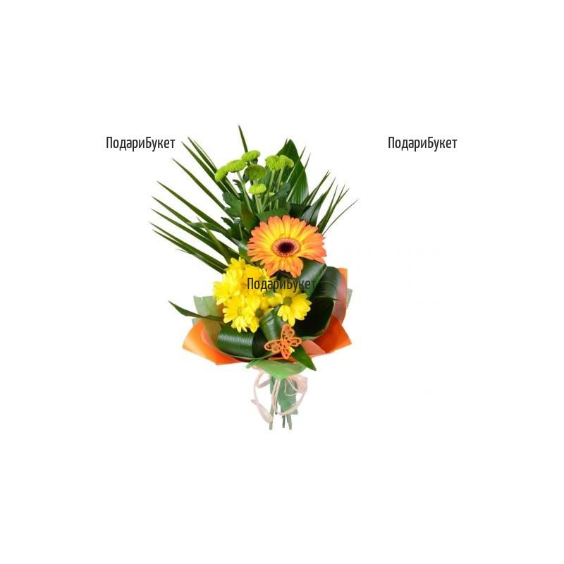 Онлайн поръчка на цветя и букет от гербер
