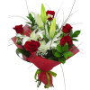 Send romantic bouquet of roses and lilies to Sofia, Varna, Burgas