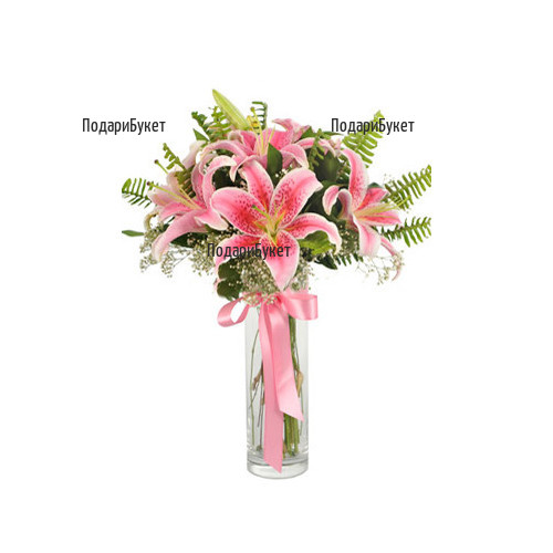 Order flowers and bouquets of lilies to Ruse, Haskovo, Pleven, Varna