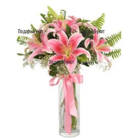 Поръчка на цветя и букети от лилиуми в Русе, Хасково, Плевен, Варна