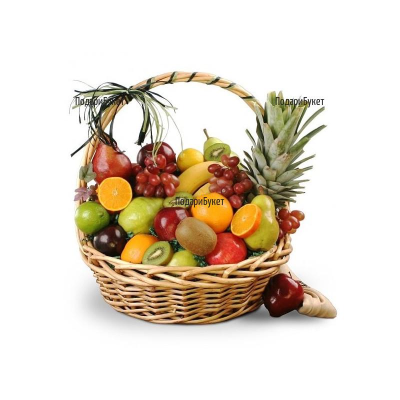 Доставка на огромна кошница с плодове