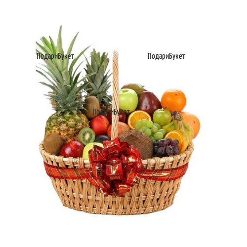 Доставка на витаминозна кошница с разнообразни плодове в София, Бургас