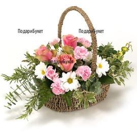 Order online flowers and flower basket to Ruse, Haskovo, Pleven