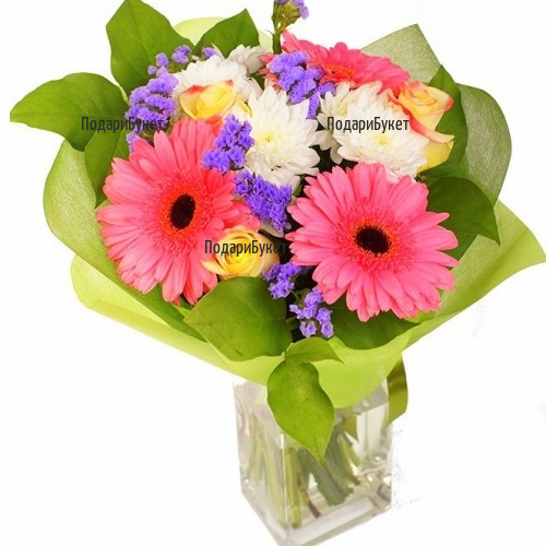 Send stylish bouquet of gerberas and roses to Sofia, Plovdiv, Ruse