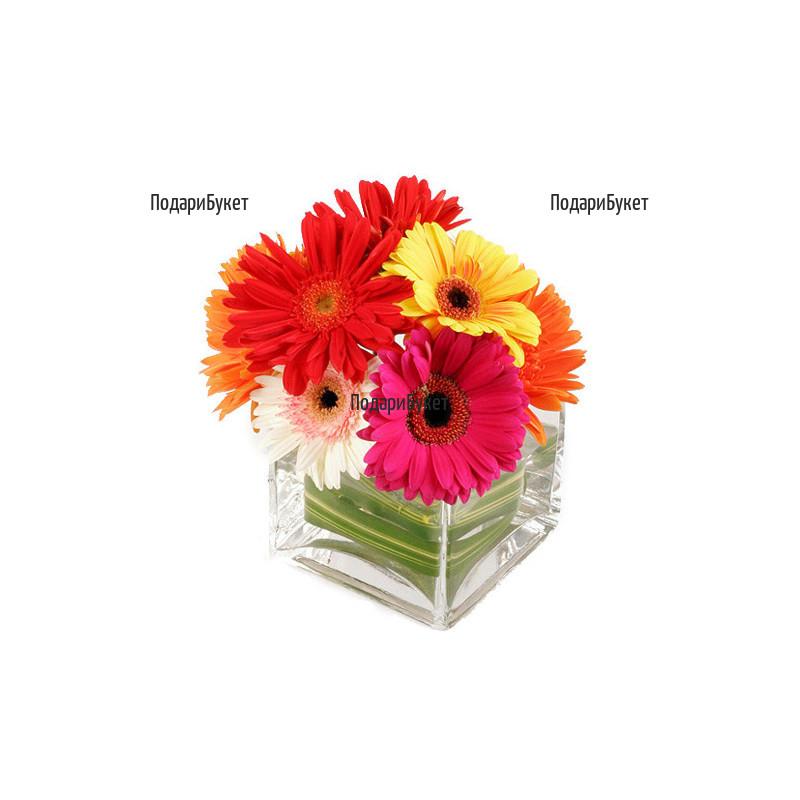 Send arrangements with flowers to Sofia, Plovdiv, Varna, Burgas