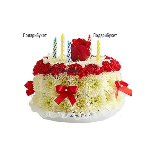 Поръчка на торта от цветя в София, Пловдив, Варна, Бургас
