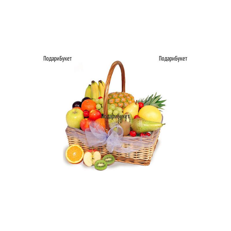 Send tastful basket with fruits to Sofia, Plovdiv, Varna