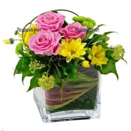 Send arrangement with flowers to Dobrich, Ruse, Haskovo