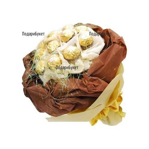 Send bouquet of luxury Ferrero Rocher chocolates to Ruse, Haskovo