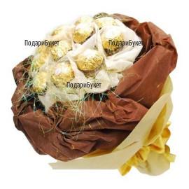 Поръчка на букет от луксозни бонбони Ferrero Rocher в Русе, Хасково