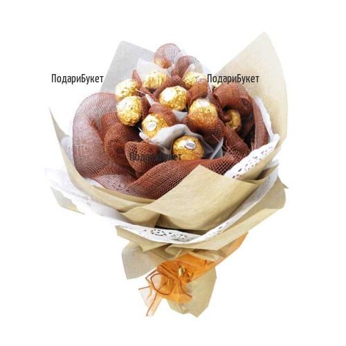 Онлайн поръчка на букет от бонбони и опаковка
