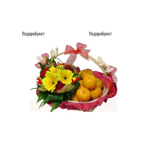 Доставка на кошници с цветя и подаръци в Русе, Хасково, Плевен, Варна