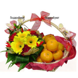 Send a basket with flowers and gifts to Ruse, Haskovo, Pleven, Varna