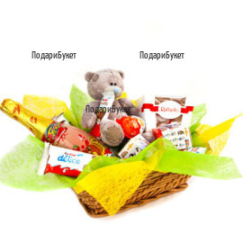 Доставка на детска кошница с подаръци в София, Пловдив, Варна, Бургас