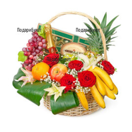 Send a basket with various gifts and flowers to Sofia