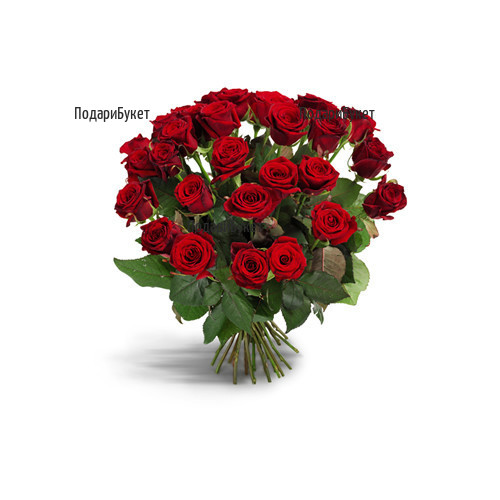 Доставка на букет от червени рози в София, Пловдив, Варна, Бургас