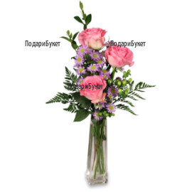 Flower delivery - bouquet of pink roses