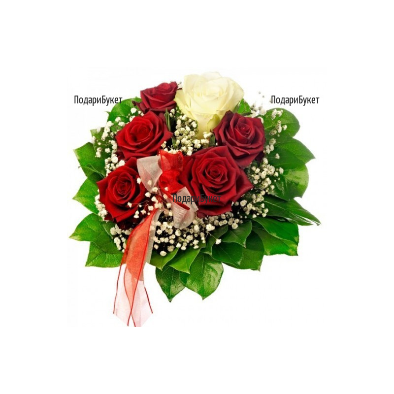 Send flowers and bouquet of roses by courier