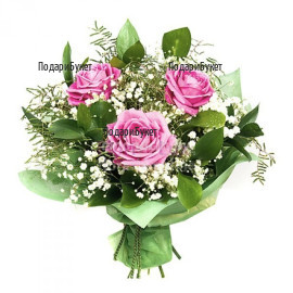 Send bouquet of pink roses to Sofia, Plovdiv, Varna, Burgas.