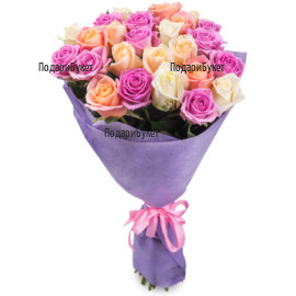 Send bouquet of roses by courier to Burgas, Russe, Haskovo, Varna