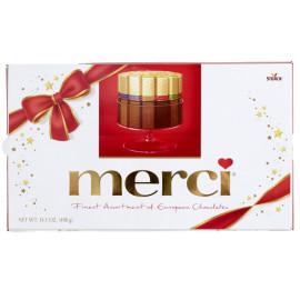 Send Merci Chocolate big box, tied with a ribbon